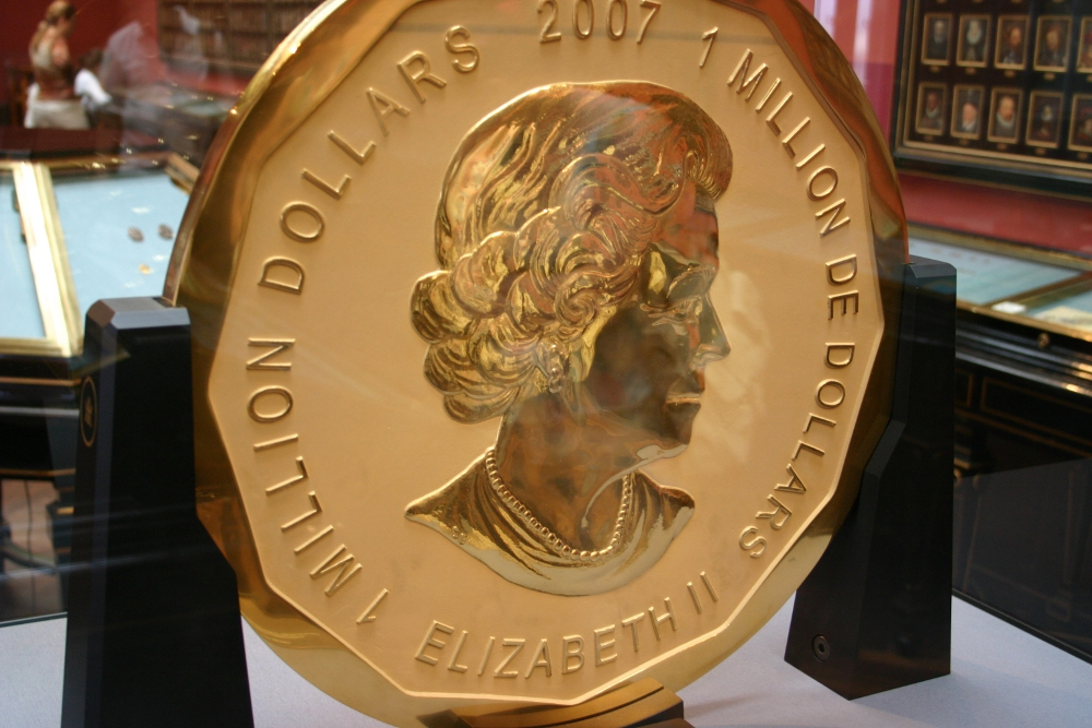 The 100 kg pure fine gold coin