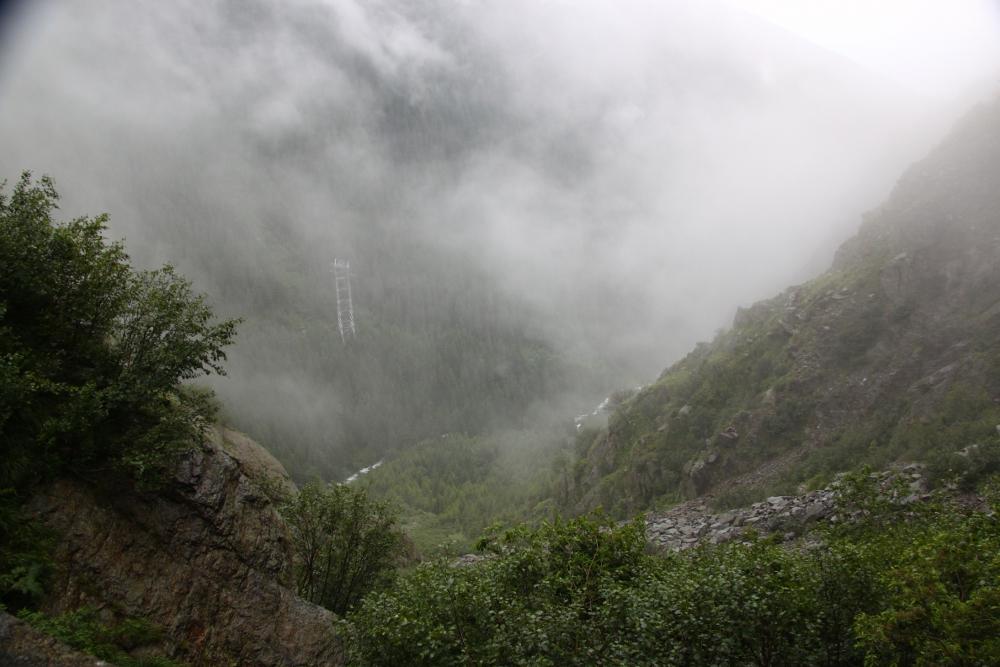 Transfagarasan fog view