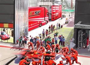 Ferrari Paddock