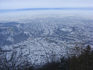 Brasov, Romania - covered in snow