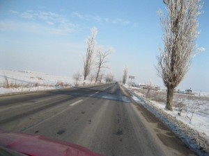 winter on the road