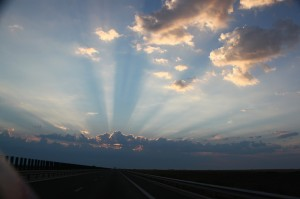 Clouds and sunrise - Romania - 2010
