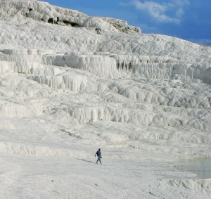Hot springs of Pamukkale - cotton castle - Turkey