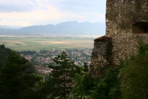 Rasnov - Romania - City seen from the fortress
