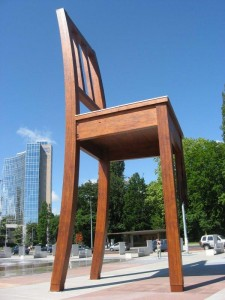 Broken Chair memorial - Switzerland