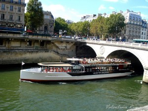 Boat on the Seine 1