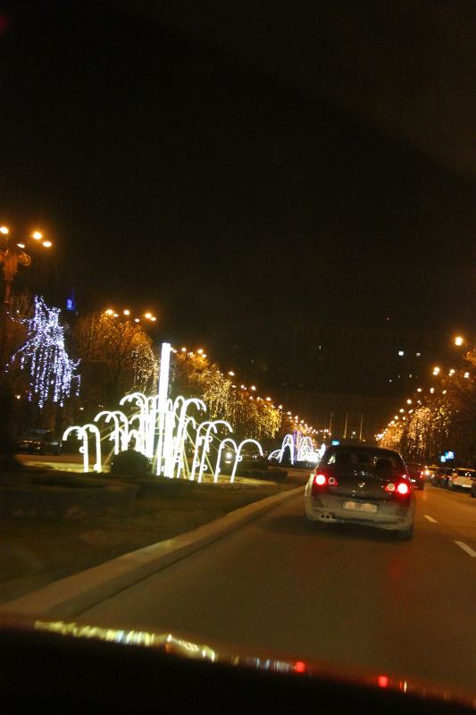 Christmas in Bucharest 2011 - road 1