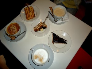 A simply delicious variety of coffee and cakes