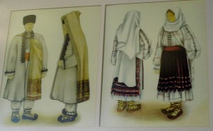 Romanian Traditional Costume painting