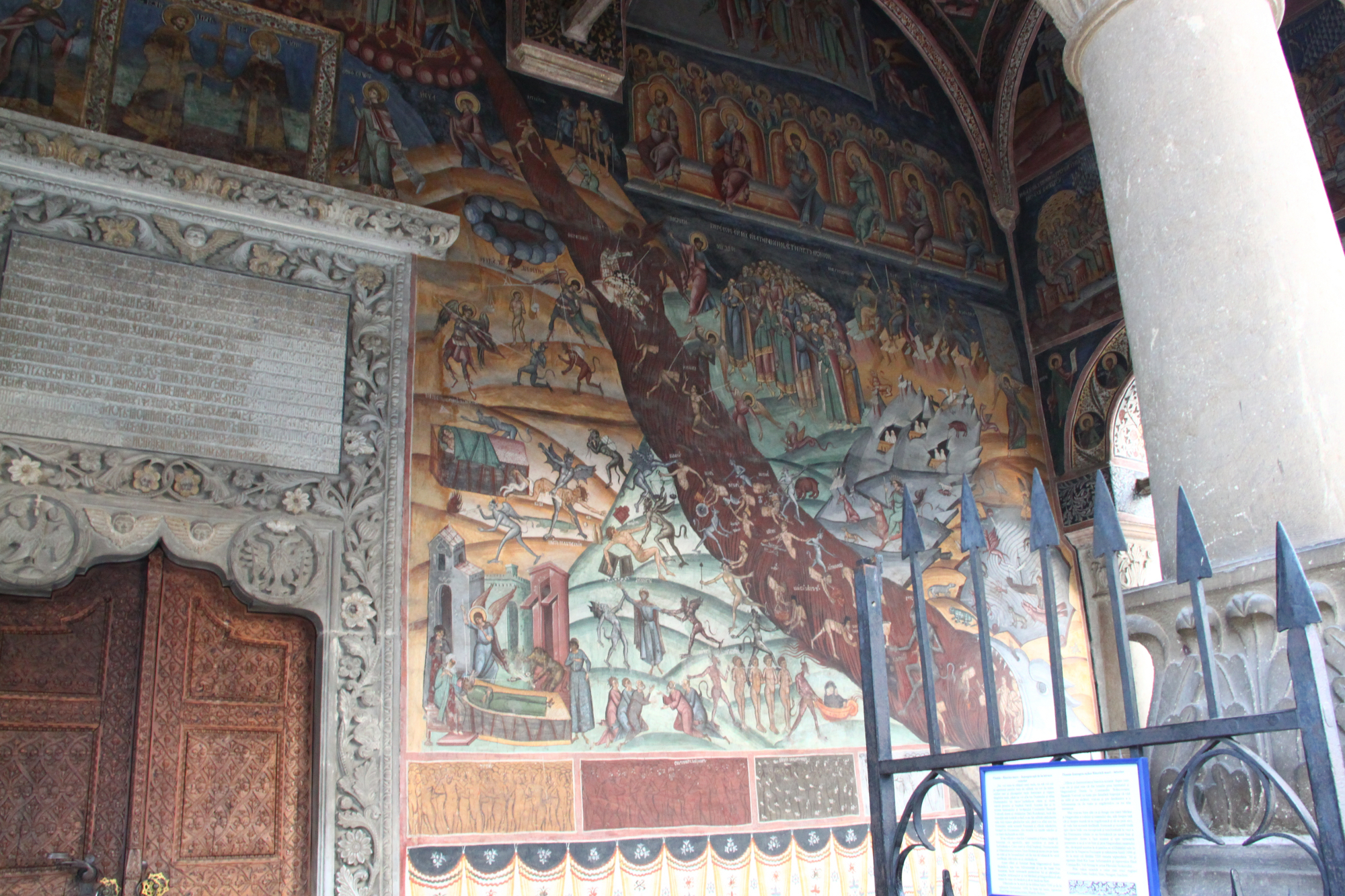Hurezi Monastery painting right wall