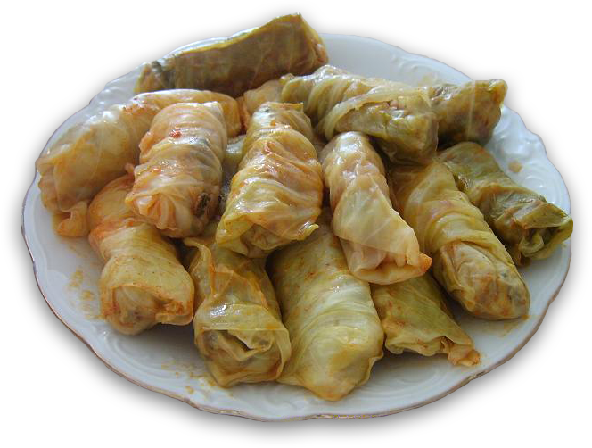 Famous dishes: Sarmale (Romanian cabbage rolls) and salata ...