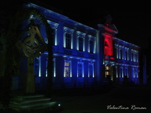 Ramnicu Valcea City Hall blue