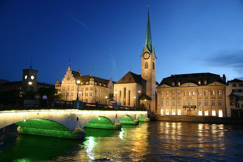 Zurich City Night Zurich by Night
