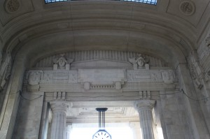Milan central Train Station - interior detail