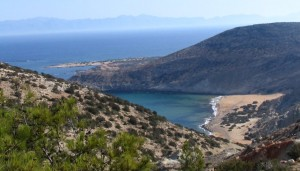 Gavdos - potamos beach from Ambellos