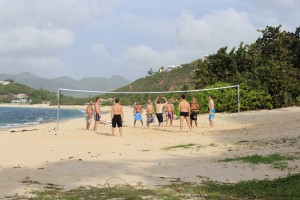 St. Martin beach volleyball