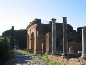 Ostia theate exterior