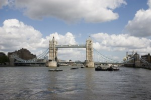 Thames River and London Bridge