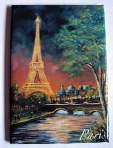 souvenir paris fridge magnet