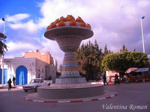 Orange trees in Nabeul, Tunisia - In the center of the city