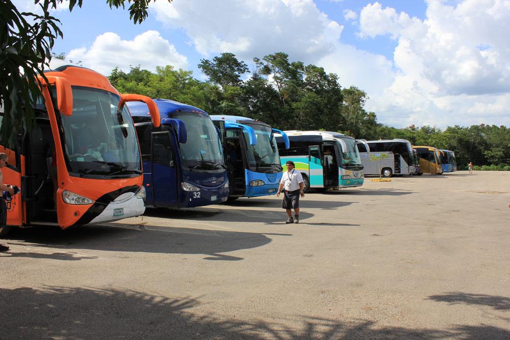 Chichen Itza Cenote buses