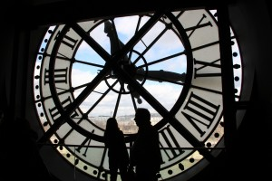 Musee d'Orsay, behind the clock