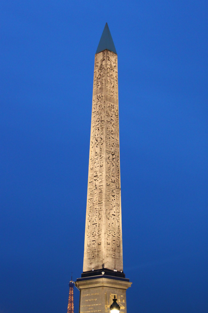 The Luxor Obelisk in Paris - details
