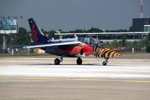 Flying Bulls Alpha Jet Bucharest International Air Show 2013 on the ground