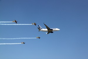 Tarom and Hawks of Romania - Bucharest International Air Show 2013