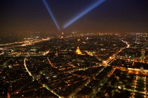 Paris at night as seen from the Eiffel Tower