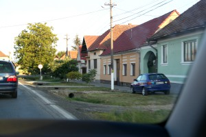 Romanian Houses Seen from the Car