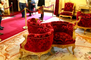 Interesting design - chairs in the Napoleon Bonaparte's apartment, The Louvrelouvre