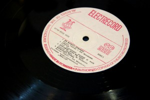 Electrecord vinyl disc at the Technical Museum in Brno, Czech Republic