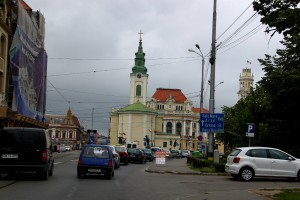 Yellow and Green Church in Oradea