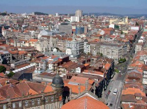 Central Porto from Torre dos Clérigos, photo by Jonik