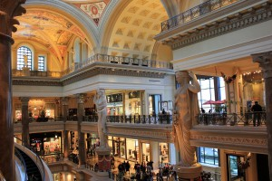 Amazing Interior of The Forum Shops at Caesars, Las Vegas
