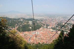 Brasov seen from the cable car