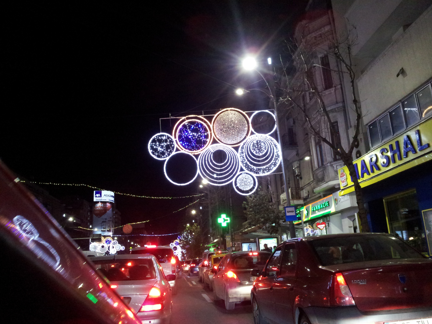 Bucharest Christmas lights