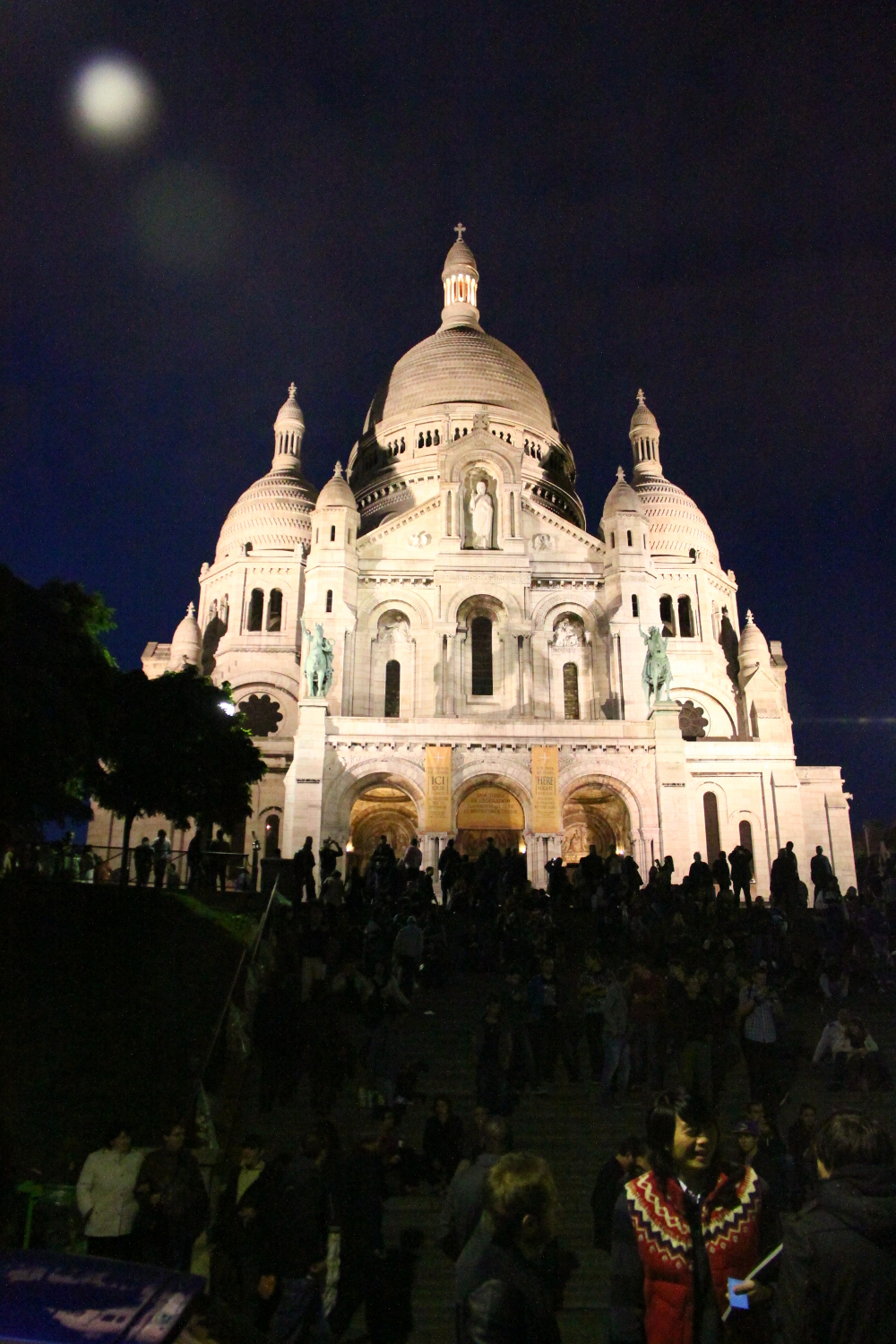 The Sacré-Cœur Basilica from Paris by Night