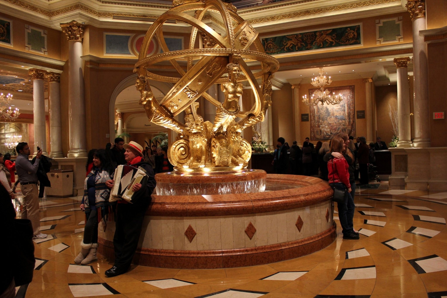 Splendid Fountain at The Venetian Resort Hotel and Casino in Las Vegas