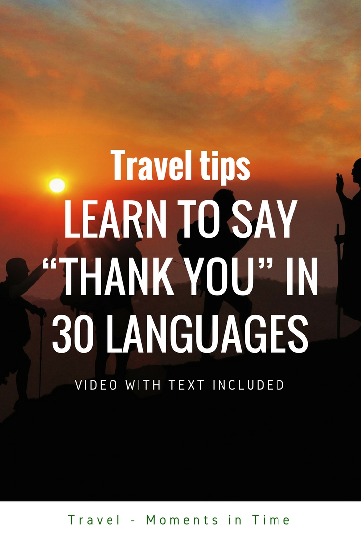 "How to say ""Thank you"" in 30 languages"