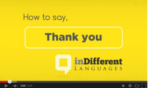 "Learn to say ""Thank you"" in 30 languages. Video with text"