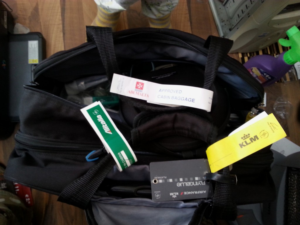 A frequent flyer's bag
