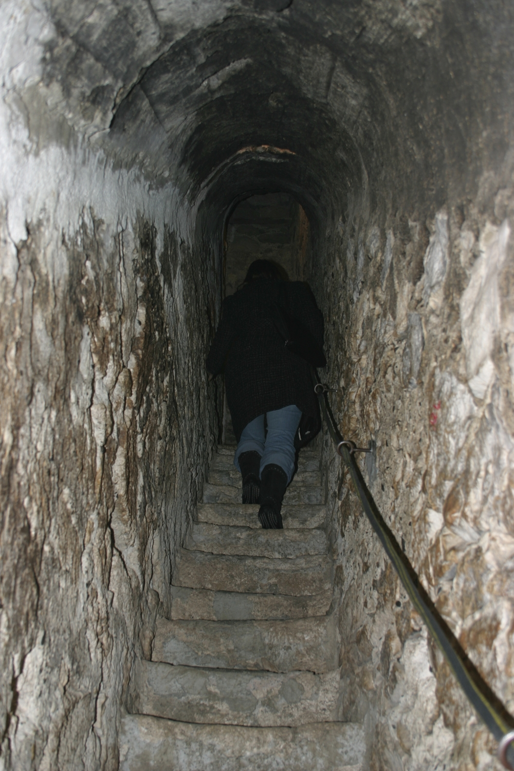 A secret and very narrow staircase at Bran Castle