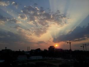 Sunrise over Joburg