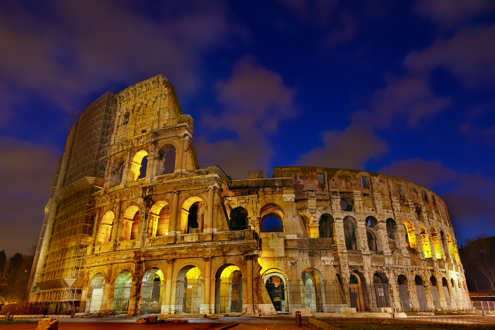 Colosseum night view. Rome,Italy