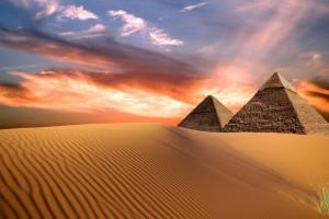 Egypt Pyramids, night view