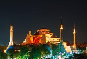 Hagia Sophia, Turkey, night view