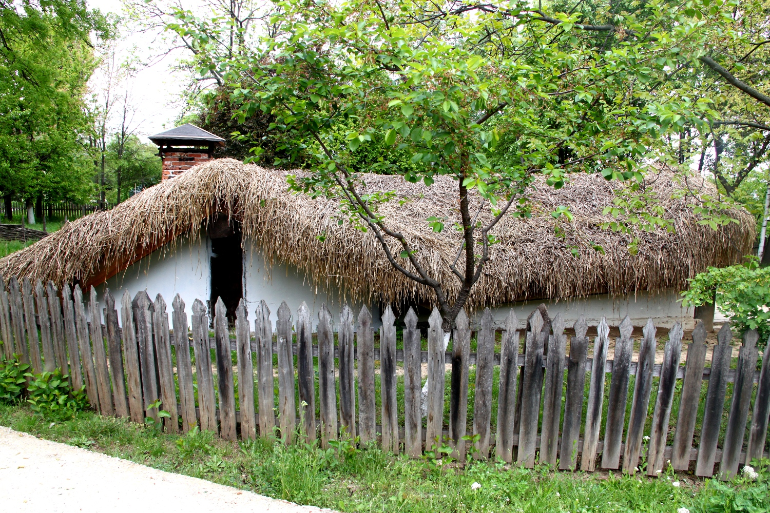 Half-buried houses in Romania - lateral view