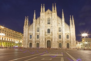 Cathedral Dome, Milan, evening